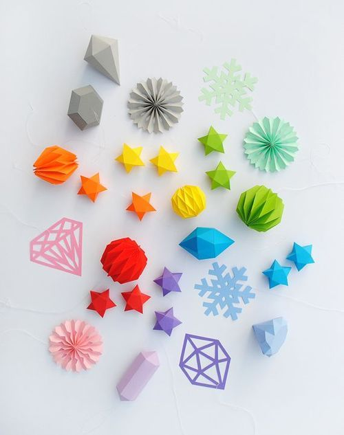 Christmas Craft Ideas For Young Children Part - 47: Paper Stars And Gems-Paper Craft-Interesting DIY Paper Craft Ideas