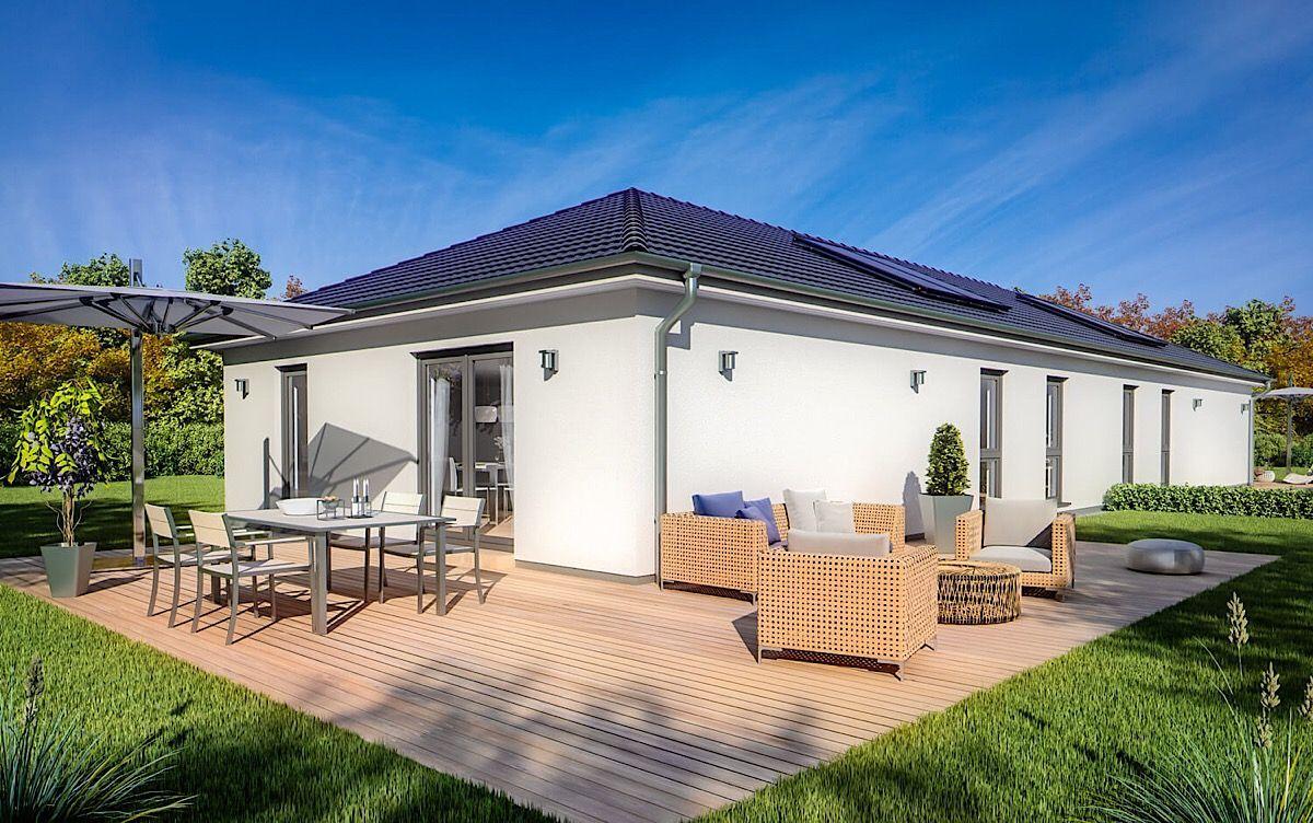 Modernes Doppelhaus ebenerdig mit Walmdach Architektur