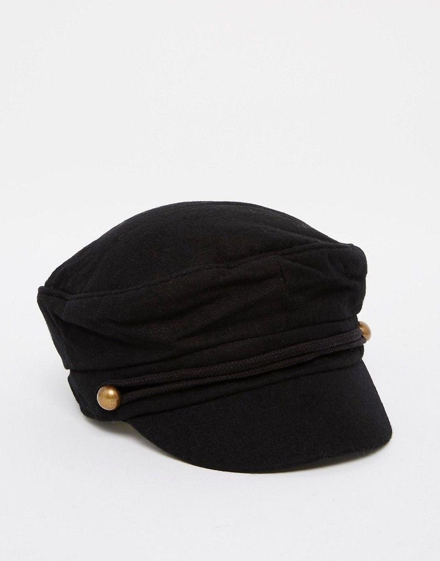 f832c6c20b345 ASOS Wool Mix Baker Boy Cap - Black