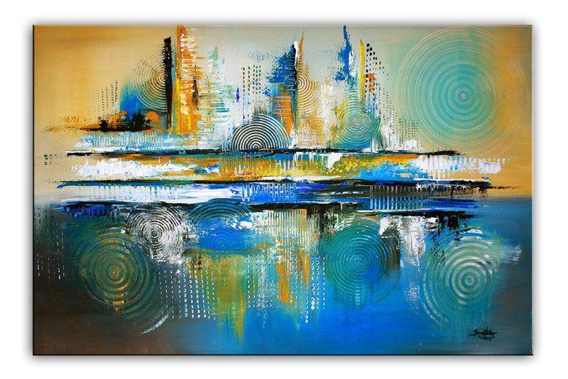 abstrakte moderne kunst malerei original gemalde acrylbilder kaufen abstrakt abstraktes bild schwarz weiß großformat