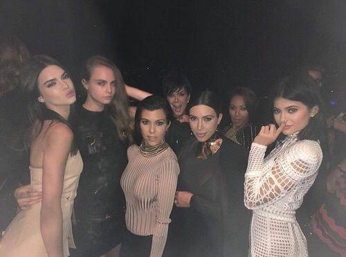 kendall jenner, kylie jenner, and kourtney kardashian image