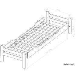 Einzelbett / Funktionsbett Easy Premium Line K1/1n inkl 2 Schubladen und 2 Abdeckblenden, 90 x 200 c - https://makalemerkez.com/design #moderninteriors