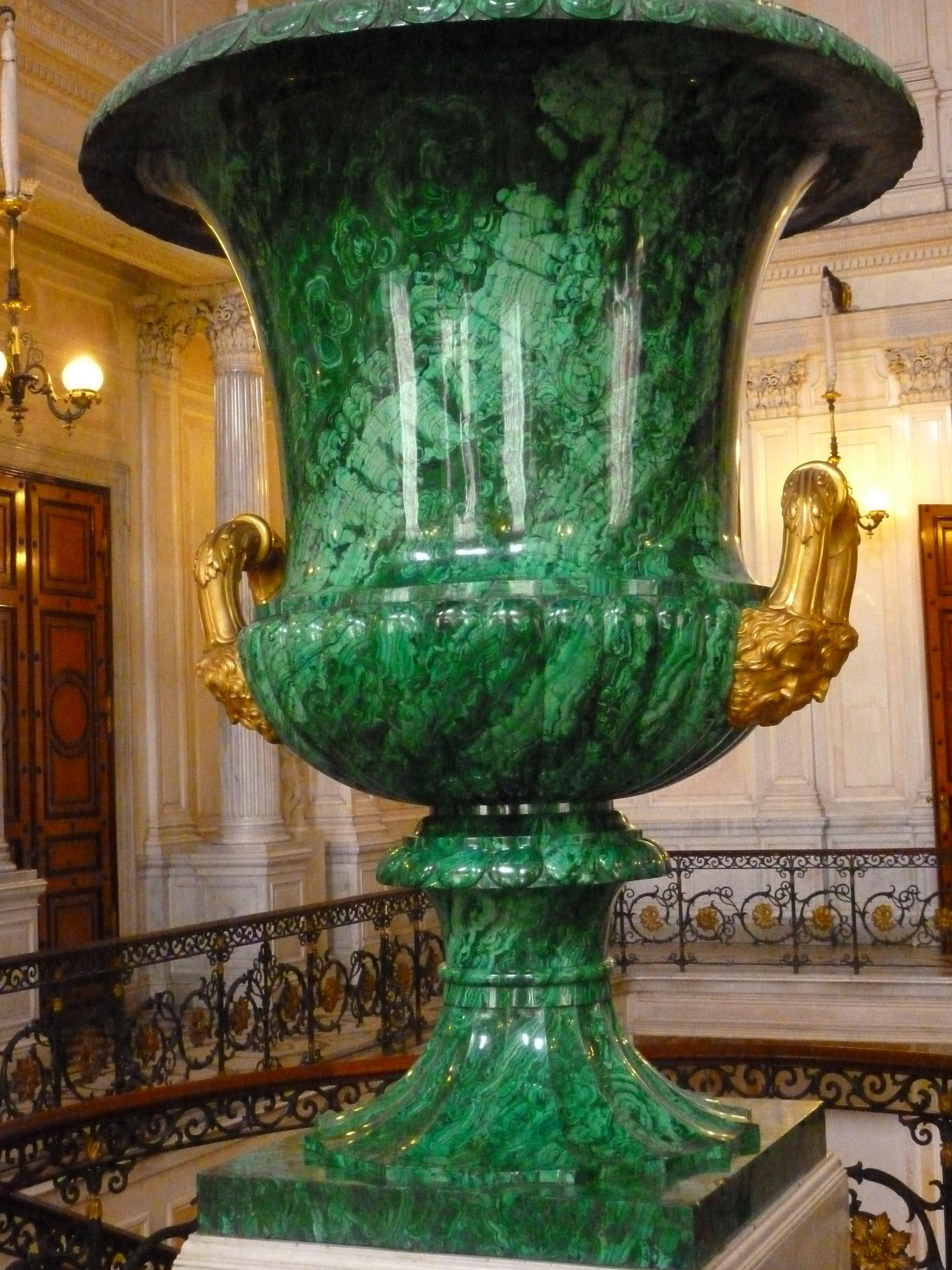 12 Malachite Urn Hermitage Museum Russia Malachite