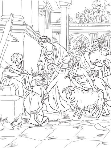 Job Restored To Prosperity Coloring Page From Job Story Category