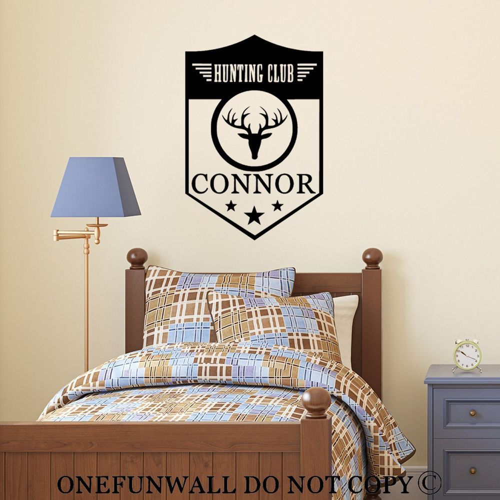 Personalized Name Hunting Club Vinyl Wall Decal Sticker Hunting - Custom vinyl wall decals deer