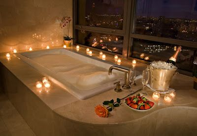 Stress Free Space How To Create A Romantic Spa Like Atmosphere In Your Bathroom Romantic Bathrooms Romantic Hotel Rooms Romantic Room Surprise