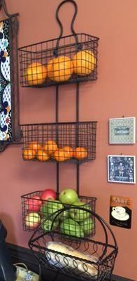 Wire Basket 3 Tier Metal Wall Decor Kohls 40 Baskets On Wall