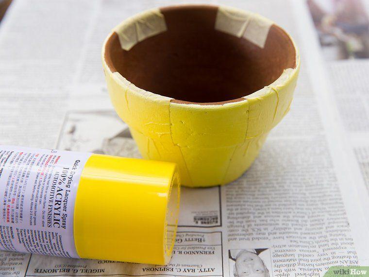 Comment peindre des pots en terre cuite 31 étapes Bricolage - comment peindre un vieux meuble
