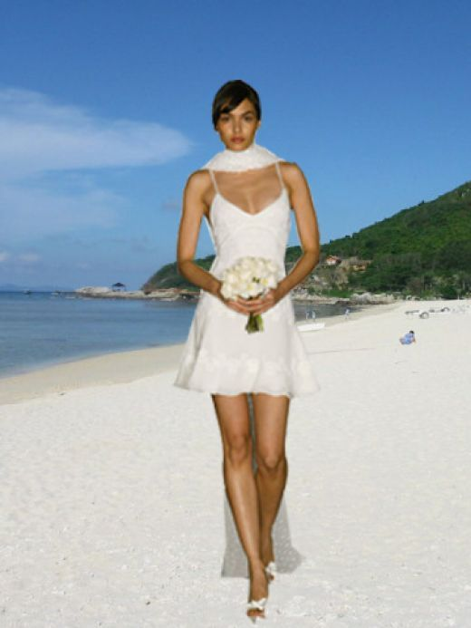 Beach Wedding Dresses Dress Short Gowns Comfortable White Mini Gown