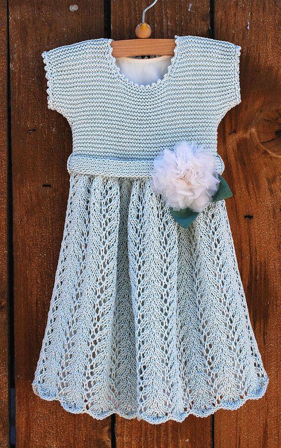 Knitted Vintage Baby Dress Pattern for PDF digital download ...