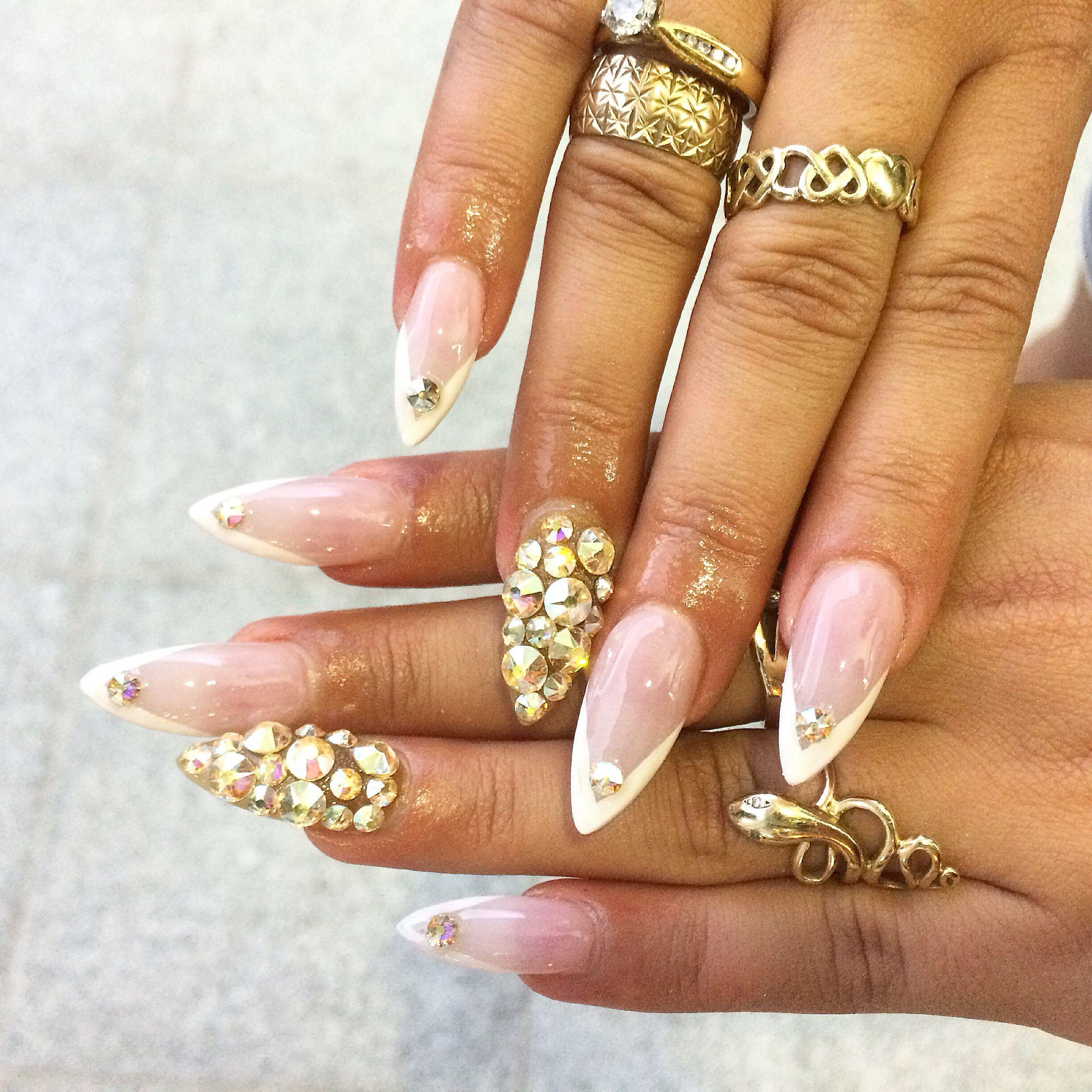 Ṿ French tip stiletto nails   Nails   Pinterest   OPI and Nail nail