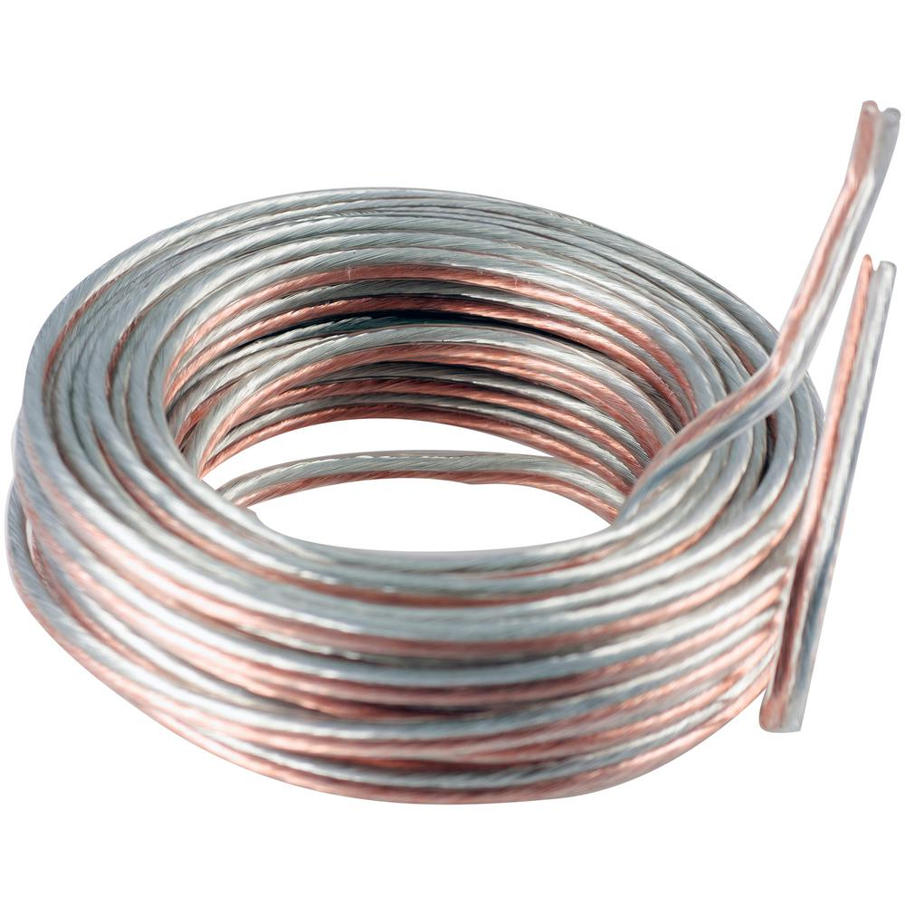 Ge 50 Ft 14 Gauge Silver And Copper Speaker Wire 34463 Speaker Wire Audio Connection Wire