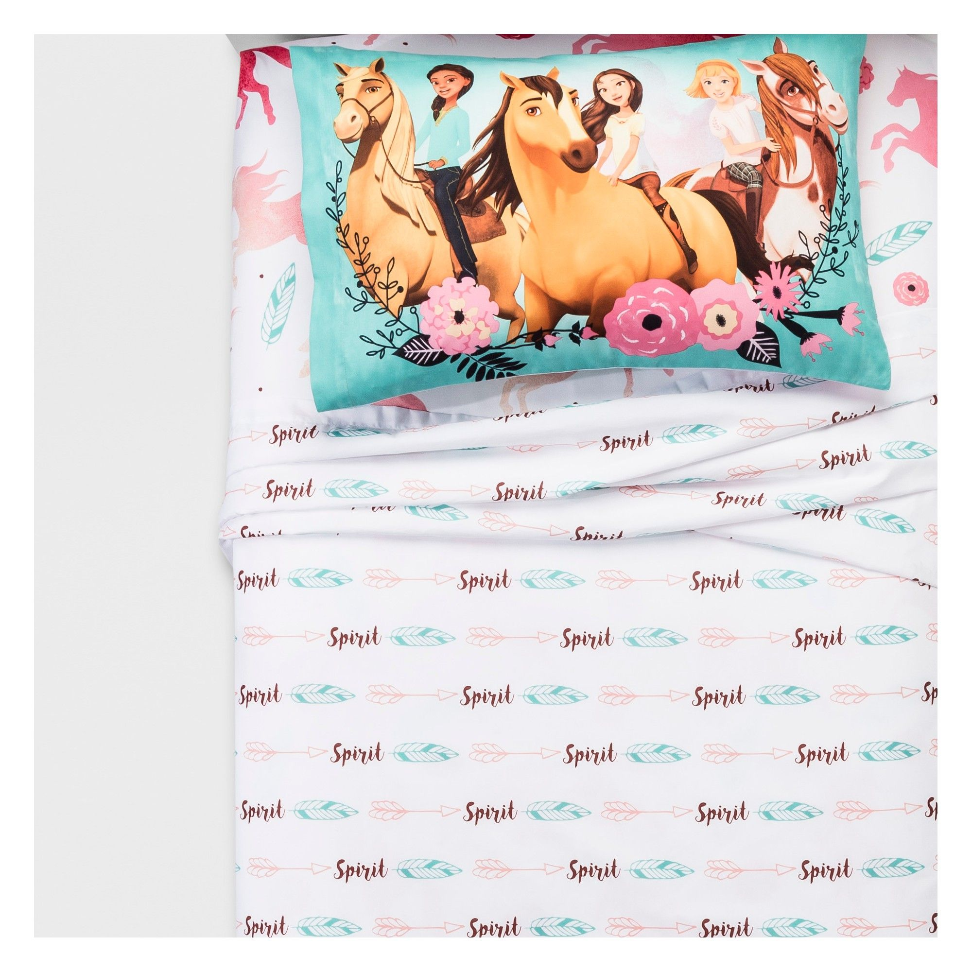 Dream Works Lucky  Spirit /'Giddy Up/' Kids Horse PONY  Bedding Sheet Set Twin
