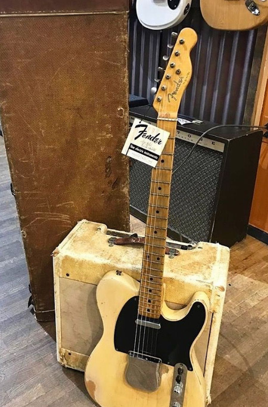 Fender Telecaster and Tweed amp of unknown dates