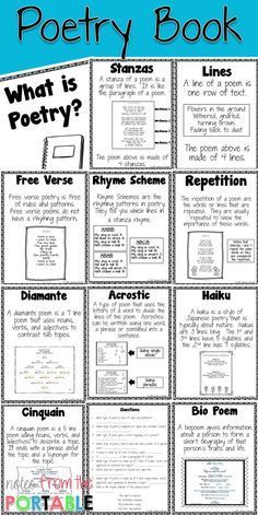 Poetry Vocabulary Book