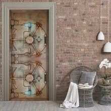 Online Shop Free shipping 3D wooden door pattern Door Wall …