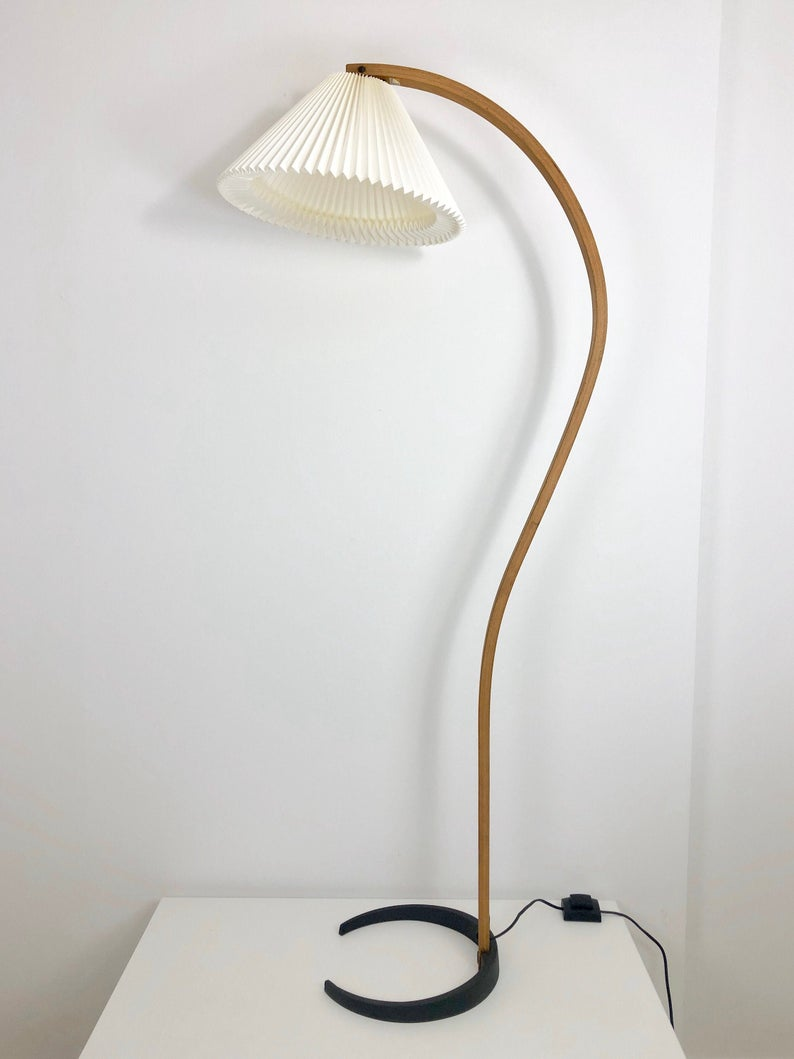 A Rare Caprani Floor Lamp With A New Le Klint Shade Vintage Floor Lamp Floor Lamp Lamp
