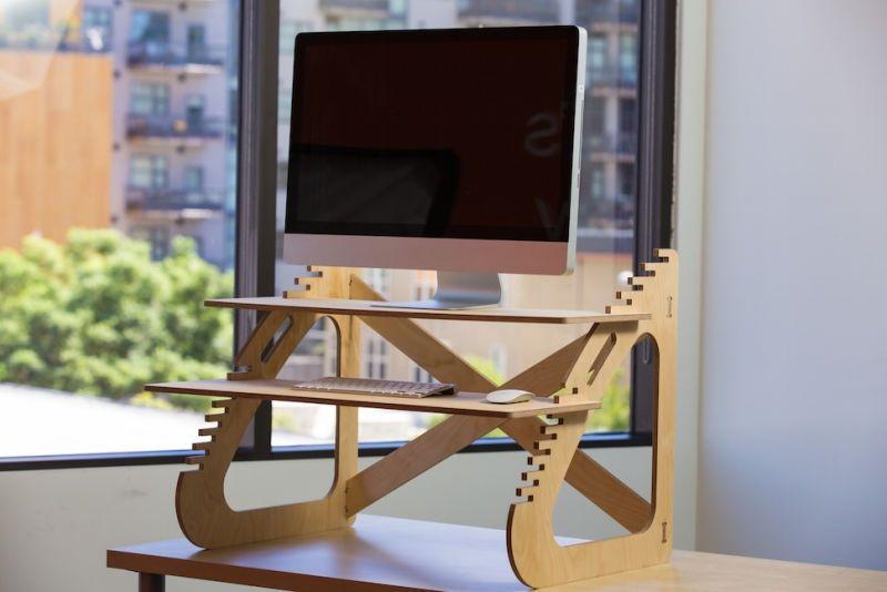 Wooden Diy Standing Desk For Imac