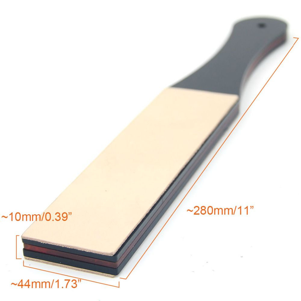 Zy Diy Leather Sharpening Strop Belt Straight Razor Folding Knife