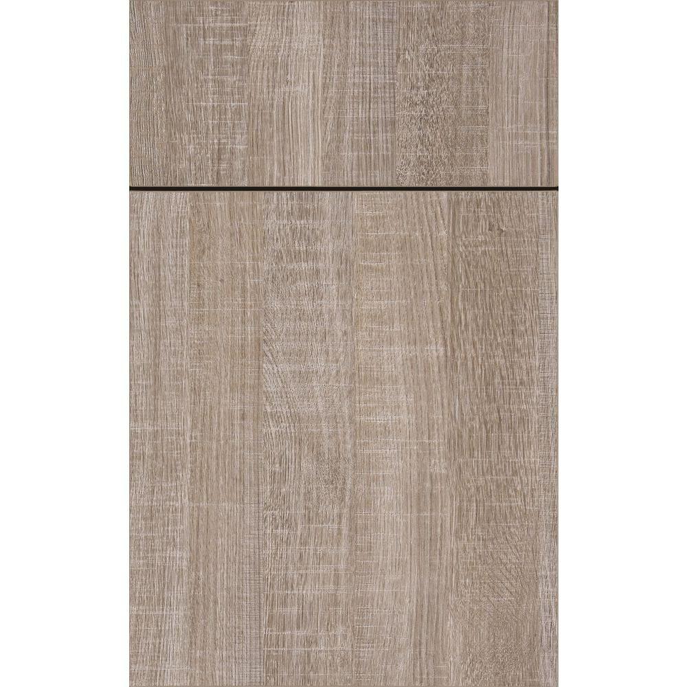 14 in. x 12 in. McKinley Cabinet Door Sample in Textured Melamine ...