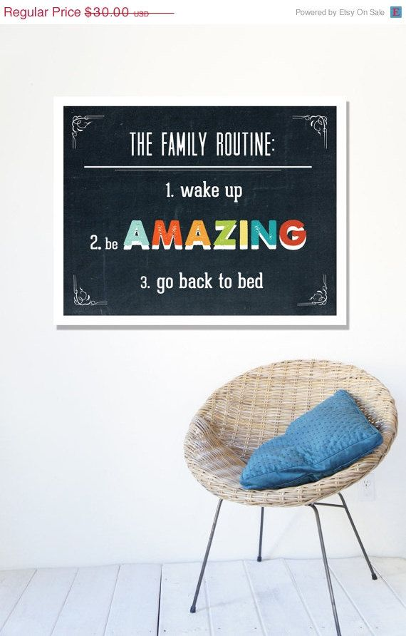 HOLIDAY SALE 25 OFF Family Routine 11x14 by ChildrenInspire, $22.50