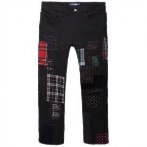 Gwen Stefani wearing Junya Watanabe Patchwork Jeans