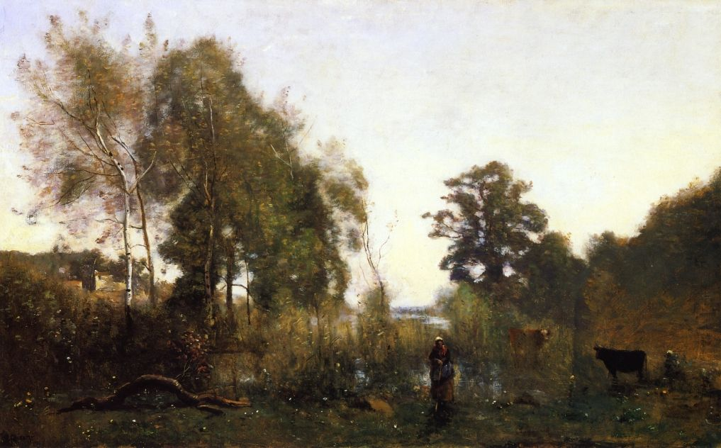 The Ponds Of Ville D Avray By Artistcorot Realism Portland
