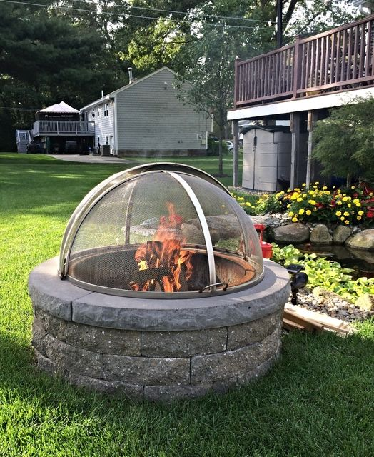 Pin By Kate Higley On Higleymetals Com Stainless Steel Fire Pit Fire Pit Spark Screen Fire Pit
