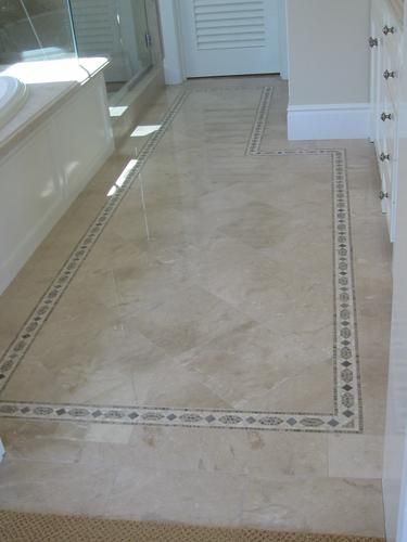 bathroom border tile ideas marble bathroom floor with border floor boder 15520