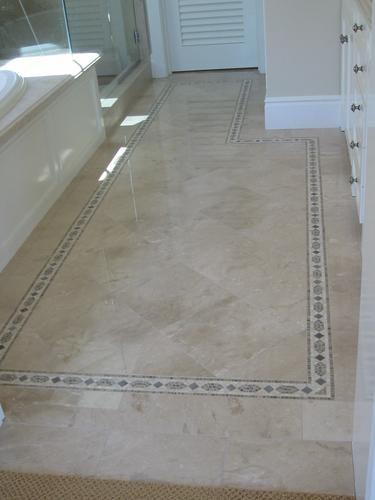 Marble Floor Borders : Marble bathroom floor with border ideas for the house