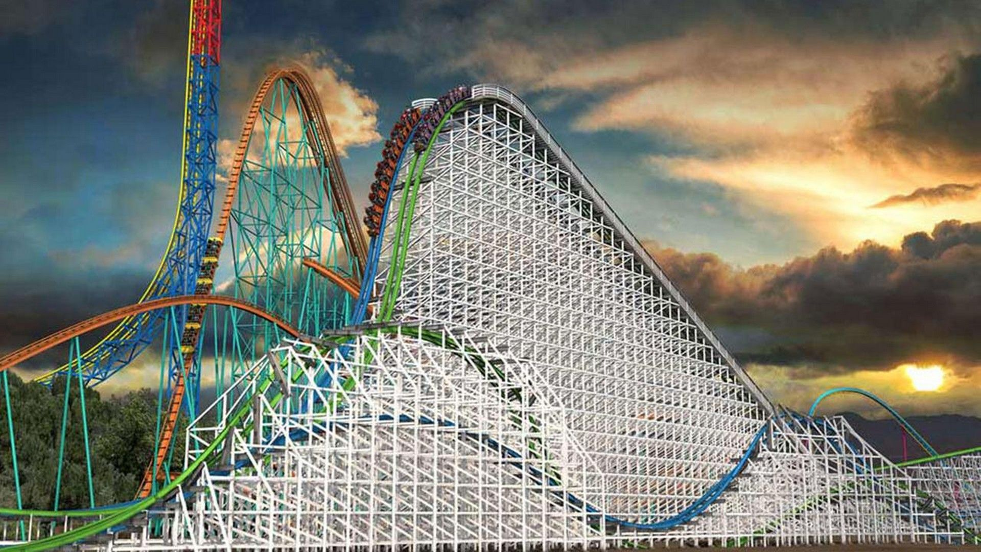 Hd Six Flags Magic Mountain Wallpaper New Roller Coaster Crazy Roller Coaster Scary Roller Coasters