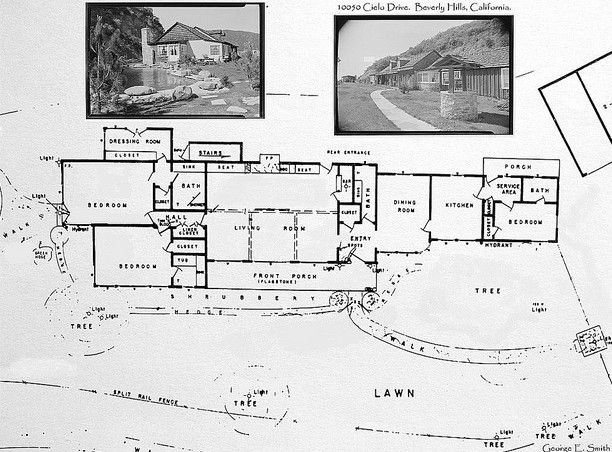 Cielo Drive - actual blueprints, from: encanto_sunland's photostream on Flickr