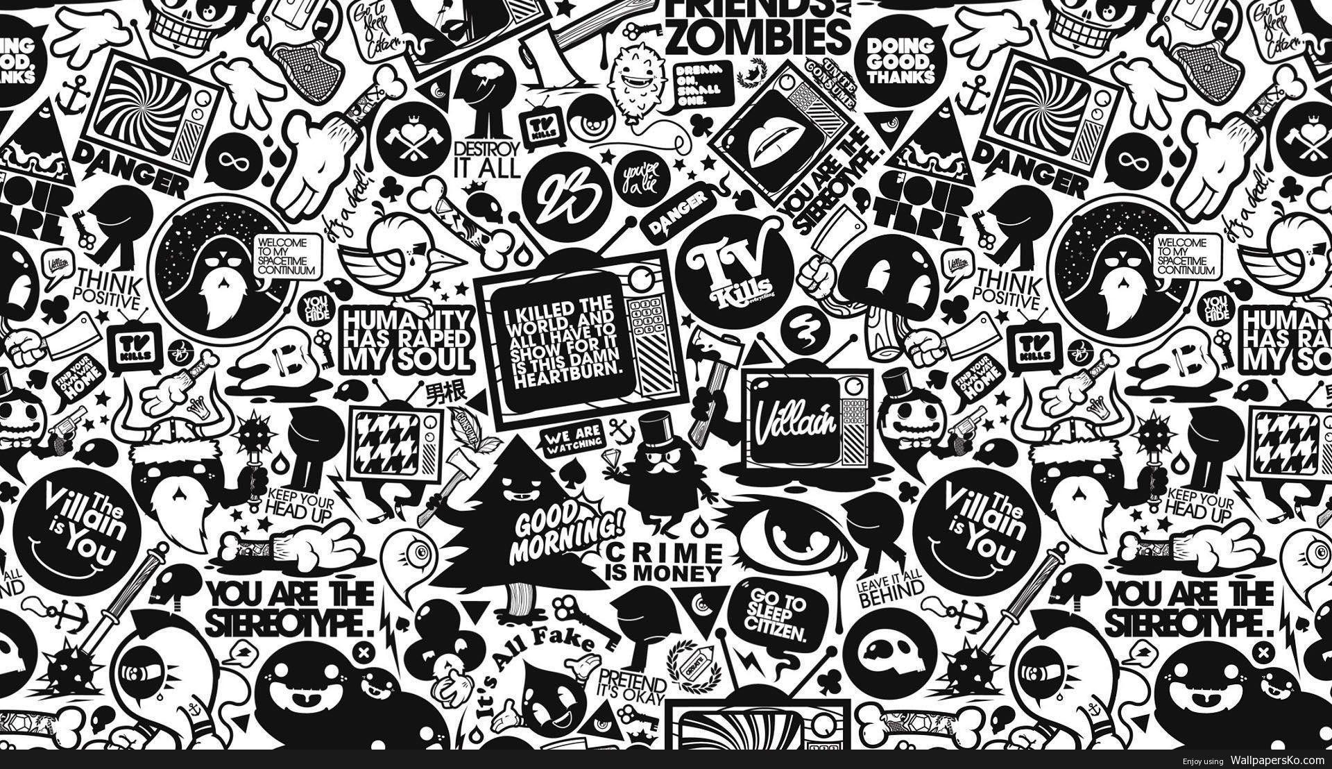 Wallpaper For Mac Http Wallpapersko Com Wallpaper For Mac Html Hd Wallpapers Download Mac Wallpaper Doodle Art Retro Wallpaper
