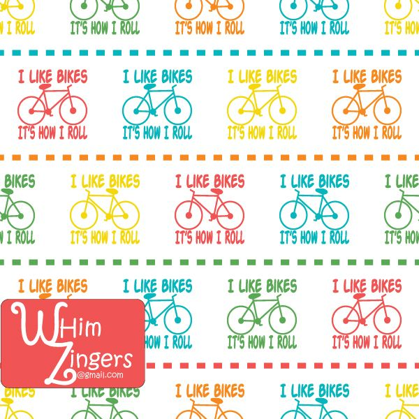 A digital repeat pattern for seamless tiling. #repeatpattern #seamlesspattern #textiledesign #surfacepatterndesign #vectorpatterns #homedecor #apparel #print #interiordesign #decor #repeat #pattern #repeat #repeating #tile #scrapbooking #wallpaper #fabric #texture #background #whimzingers #bicycles #text #typographic #bikes #bright #red #blue #yellow #orange #green