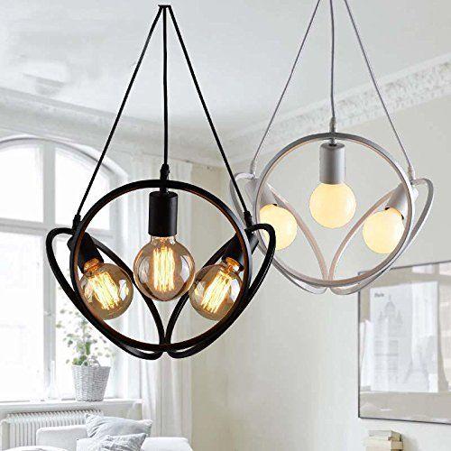 wazz-american style loft LED pendentif lumière pendentif rétro Feux - lustre pour salle a manger