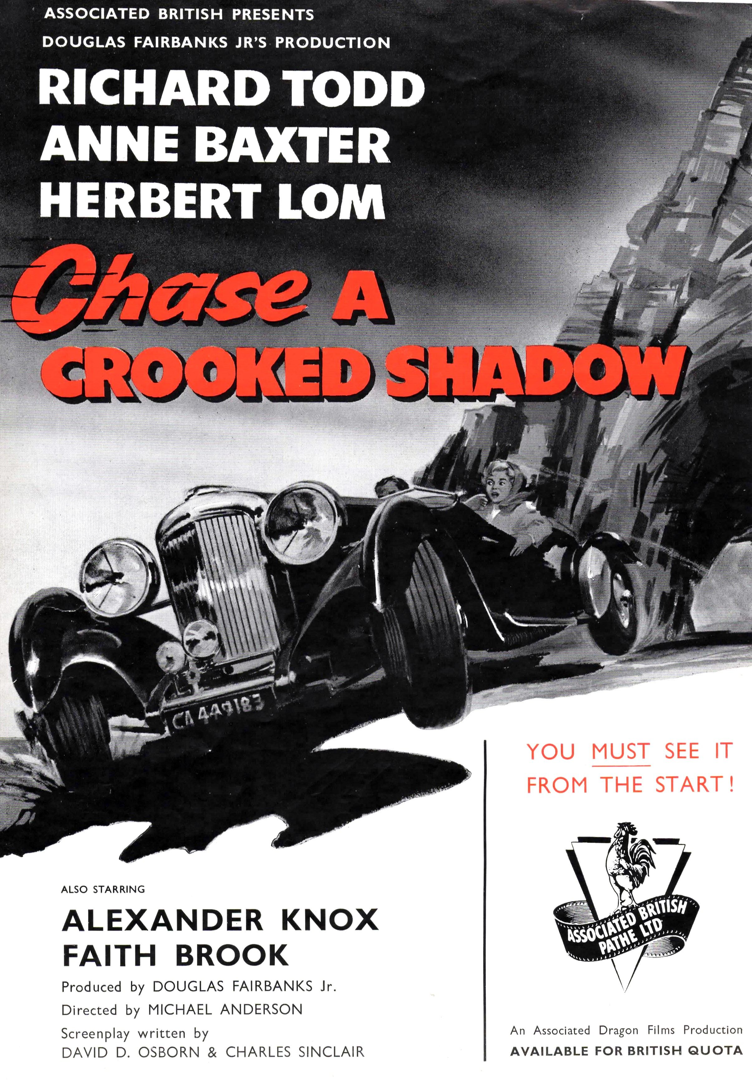 Chase A Crooked Shadow Uk 1958 Lagonda Rapide Anne Baxter