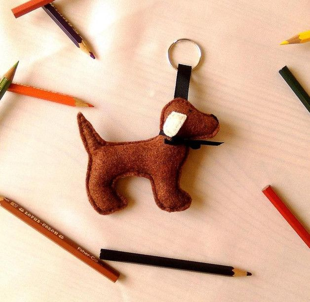 Schlüsselanhänger - Schlüsselanhänger Hund - ein Designerstück von Pollyanna-Waberska bei DaWanda