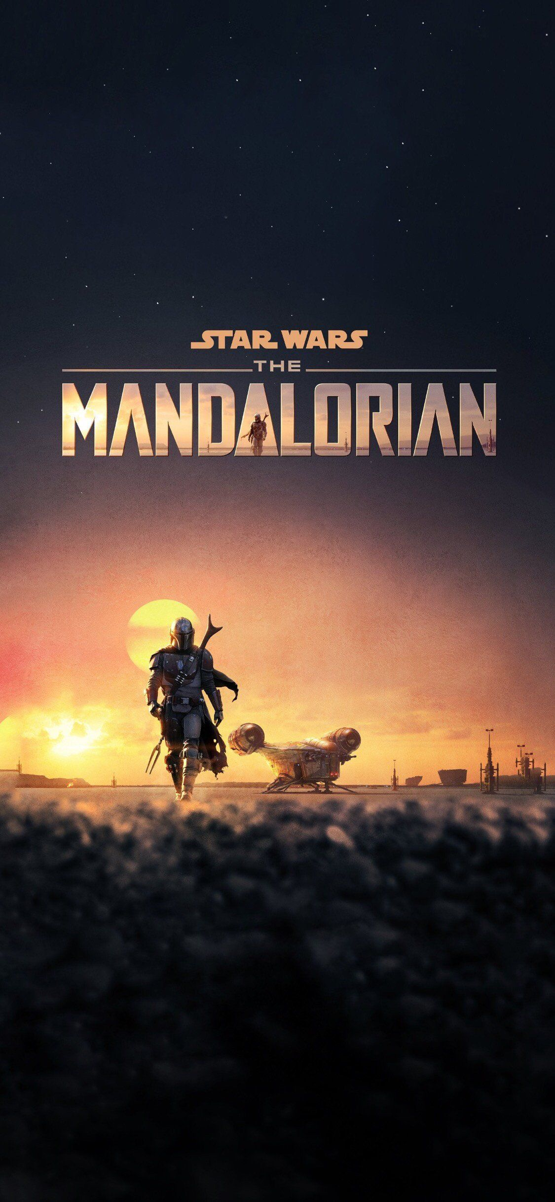 The Mandalorian (with and without the title) iPhone X