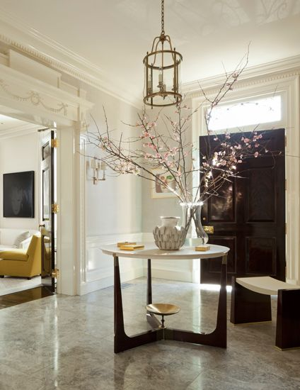 Ideas On How To Style Your Round Entryway Table Round Foyer