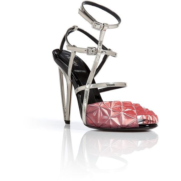 Fendi Irida Diamond Sandals (26830 RSD) ❤ liked on Polyvore featuring shoes, sandals, pink, pink shoes, fendi, pink peep toe shoes, high heel peep toe shoes and fendi sandals