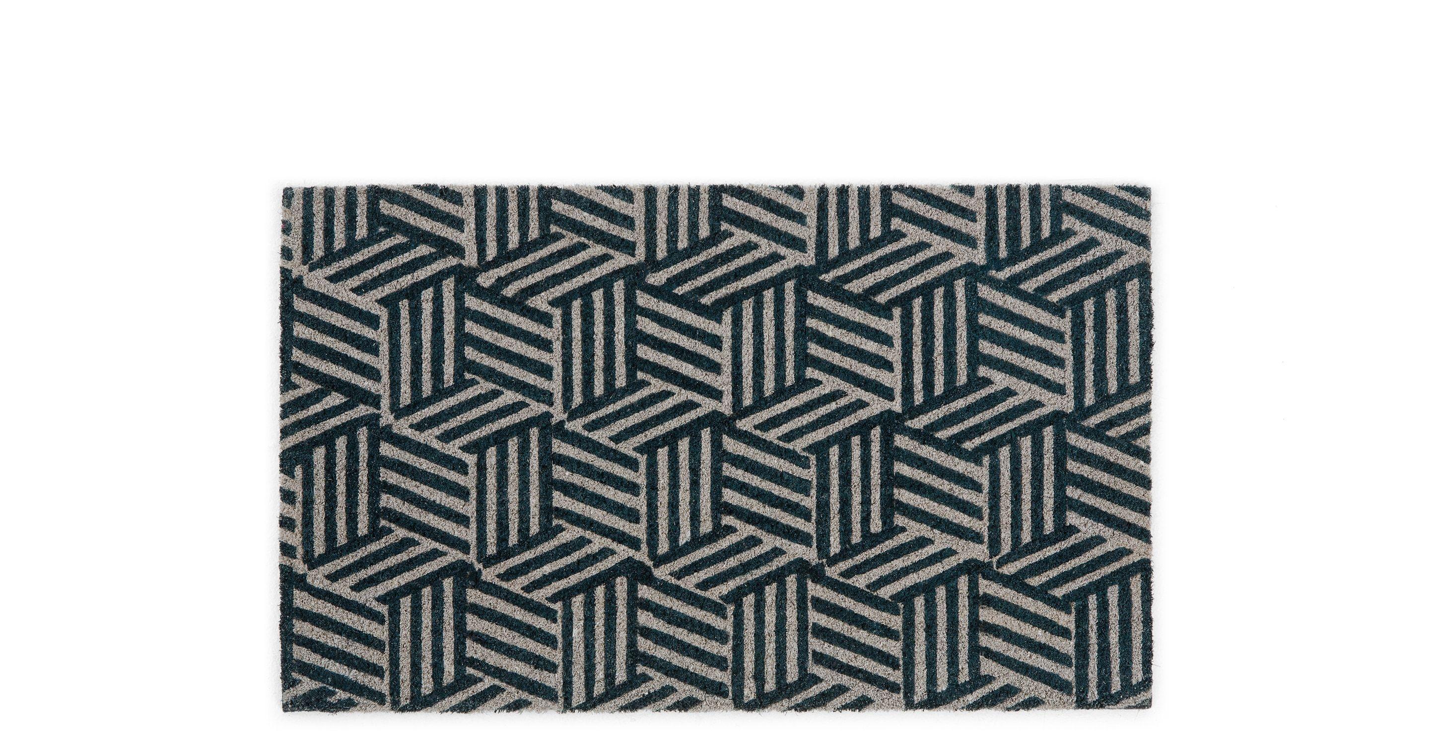 #super  -->  Fußmatten -  Cubus Fußmatte (45 x 75 cm), Marineblau - MADE.com -   // check out more -->  MADE.com