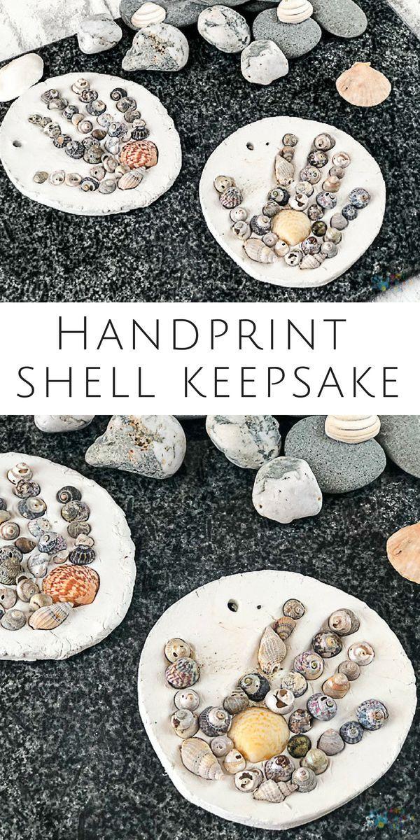 Handprint Shell Keepsake