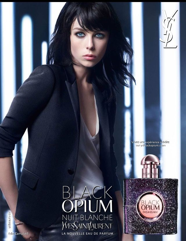 Ysl edie campbell 2016 black opium nuit blanche miroir for Miroir ysl