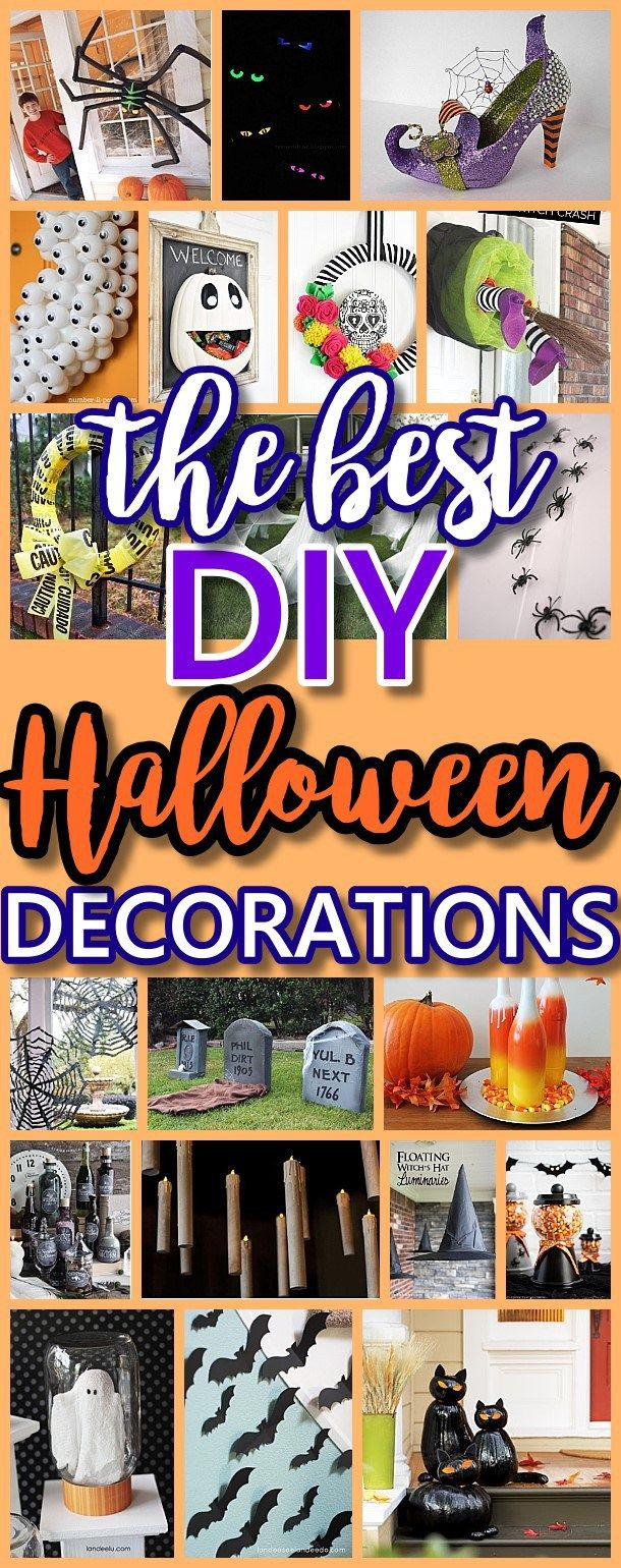 The BEST Do it Yourself Halloween Decorations {Spooktacular Halloween DIYs, Handmade Crafts and Projects!} #halloweendecorations