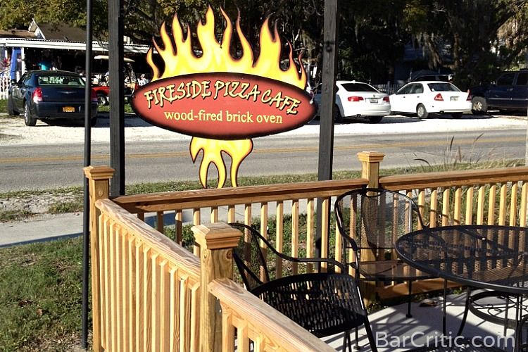 Serving up wood fired pizzas in a custom built brick oven in the cozy approx. 20 seat restaurant complete with outdoor patio the Fireside Pizza Café located at 1104 on Nebraska Avenue in Palm Harbor…