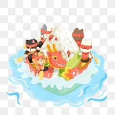 zongziillustrationsweet hazelnutsmall animalsloquat leaveswater wavetraditionsdragon boat festival illustrationdragon boat festivaldragon boatboat clipartdragon clipart