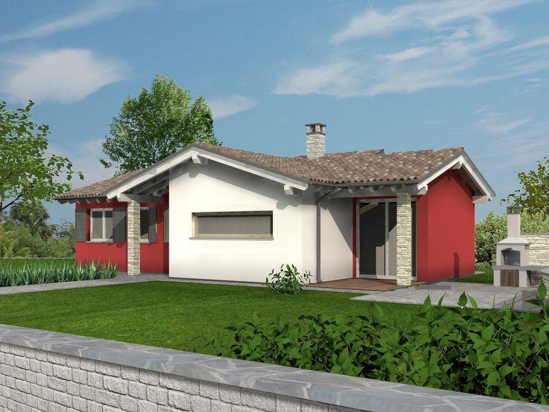 Basic 110 render modello casa in legno monopiano a costi for Case in legno costi