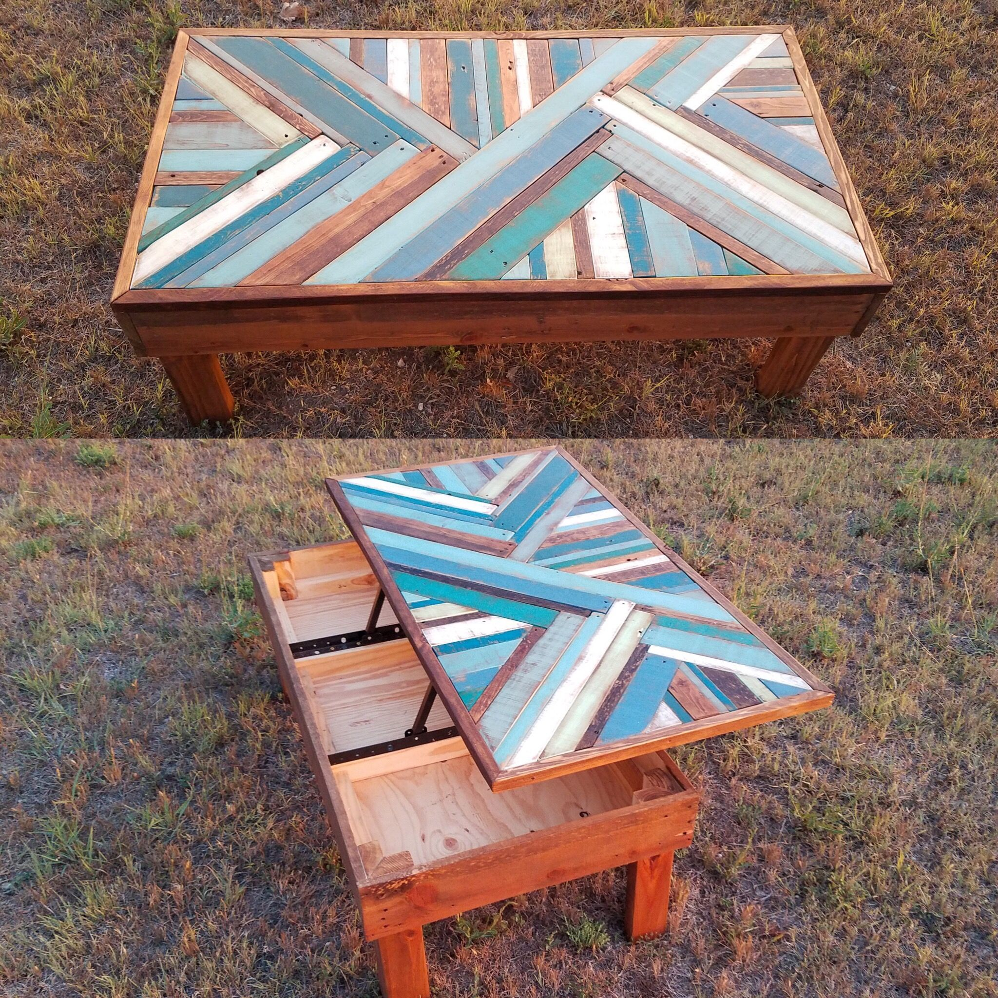 Lift Up Coffee Table Made From Pallet Wood Pallet Furniture Outdoor Table Pallet Furniture Outdoor Wood Pallets [ 2048 x 2048 Pixel ]