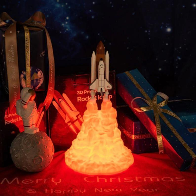 Rocket Space Shuttle 3d Night Lamp Light Rocket Launch Lamp Night Lamps Lamp Light
