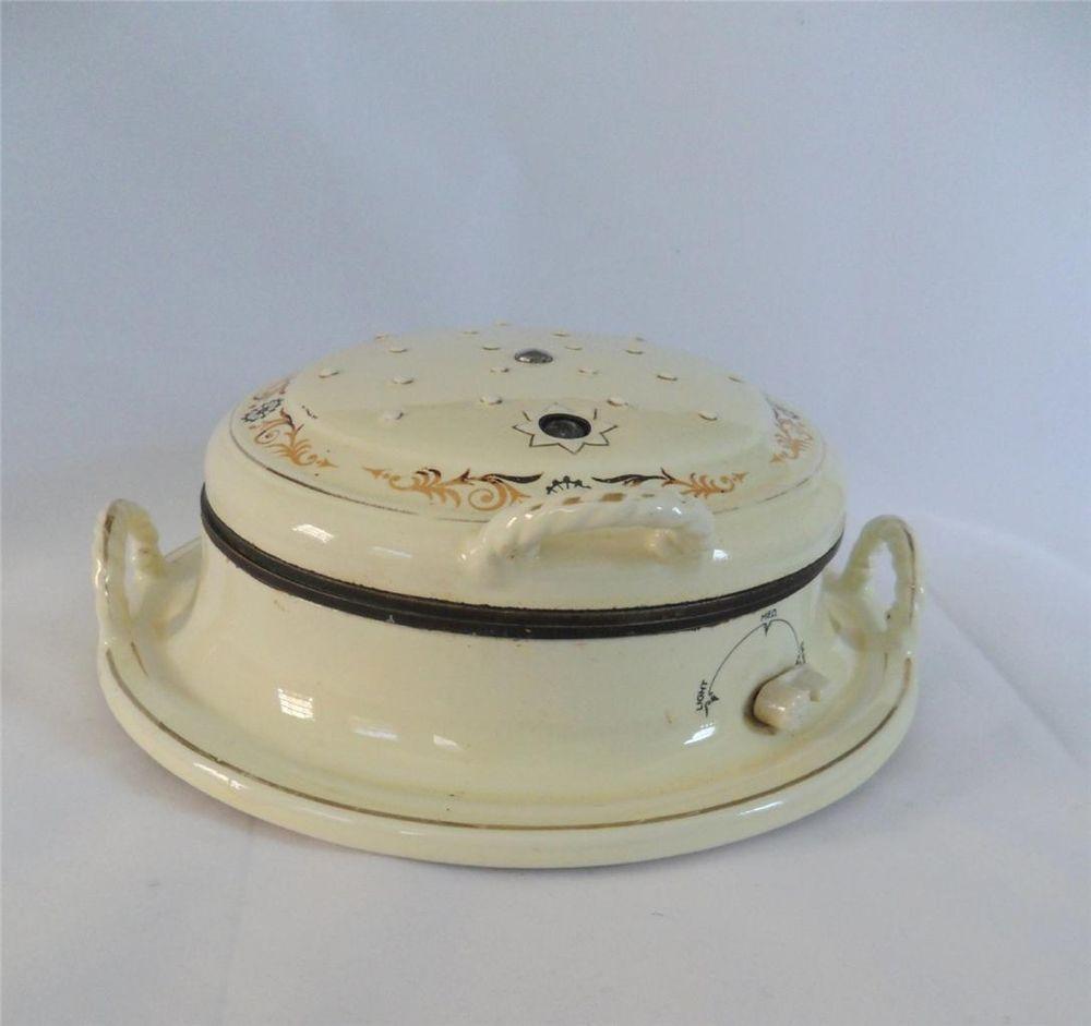 rare vintage 1930u0027s porcelier ceramic porcelain waffle maker